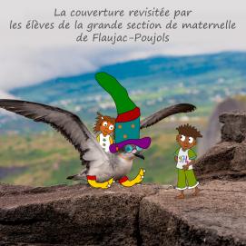 """couverture de """"Zaïna à la Réunion"""" revisitée par les élèves"""
